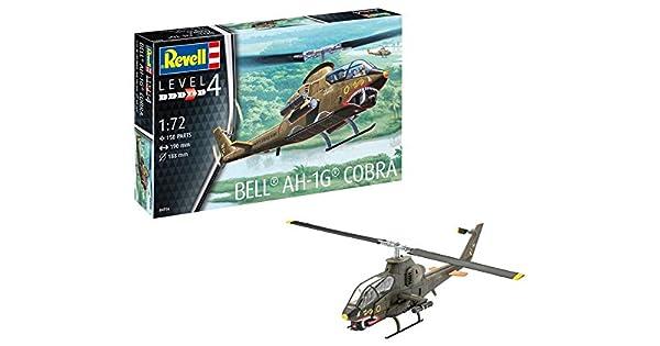 REVELL 04956 1:72 Bell AH-1G Cobra Vietnam era US Combat Helicopter Model Kit