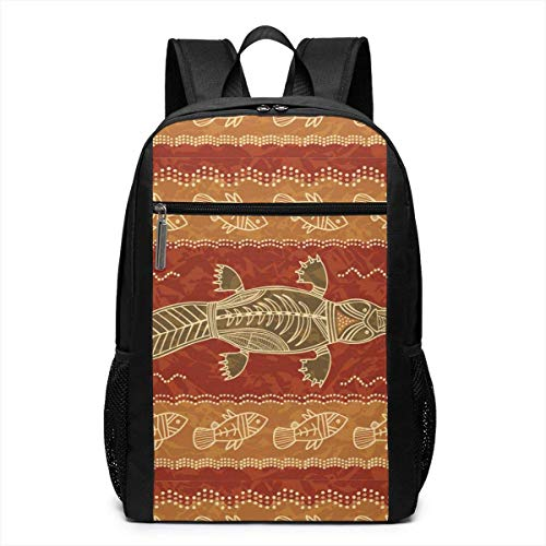 TRFashion Mochila Platypus and Fish Tribal Unisex Laptop Bac