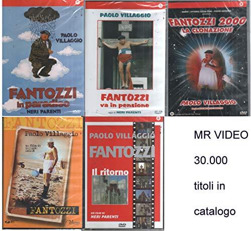 PAOLO VILLAGGIO FANTOZZI,FANTOZZI VA IN PARADISO, FANTOZZI 2000 LA CLONAZIONE,FANTOZZI VA IN PENSIONE,FANTOZZI IL RITORNO