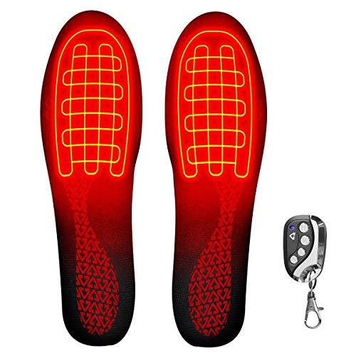 Gerbing Rechargeable Heated Insoles with Remote Control – Battery Powered Boot Shoe Insole Foot Warmers for Winter Hunting Fishing Camping Hiking – Works 8 Hours on Single Charge, Heats up to 140F