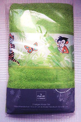 Möve for Frottana 2-teiliges Kinderset Waschhandschuh 15 * 21 cm & Kinder Handtuch 50 * 80 cm