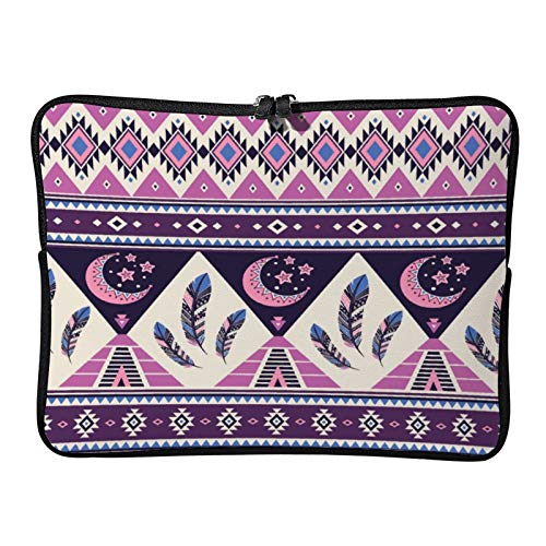 Laptop Sleeve Bag Notebook Computer PC Neoprene Protection Zipper Case Cover Tribal Geometric (3) White-color7 13inch