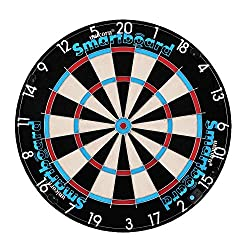 Traditional bristle board with the addition of instant app enabled scoring technology connected through Bluetooth LE built in to the board Supplied with 6 steel tipped darts that can be magnetised on the Board although any steel tipped darts can be m...