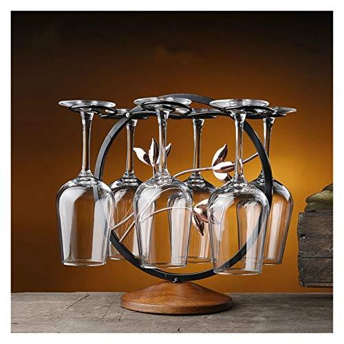 BENGKUI Herramientas de Hierro Forjado Desmontable Percha de Vidrio Holder Retro Barras de champán Secado Rack Almacenamiento Cocina de Vino Tenedor de Vidrio