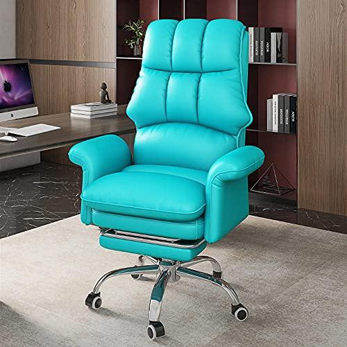 Home Computerstuhl, ergonomischer Recliner, Studienbüro Bequeme sitzende Rütteln, Wettkampfstuhl, Rückenlehne Schwenkstuhl-Blau
