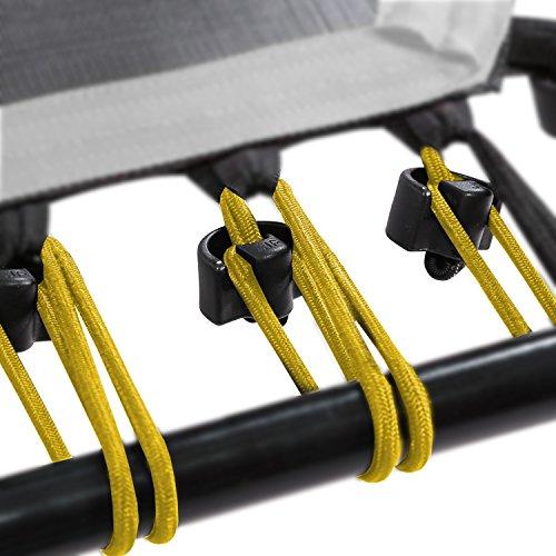 SportPlus Gummiseile-Set für SportPlus Fitness Trampoline, 36 Bungee-Seile inkl. Befestigungsclips, Härtegrad soft, Nutzergewicht ca. 0 bis 60 kg, gelb