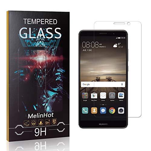 Displayschutzfolie für Huawei Mate 9, MelinHot Blasenfrei Schutzfilm aus Gehärtetem Glas für Huawei Mate 9, 9H Härte, Kratzfest, 99% Transparenz, 2 Stück