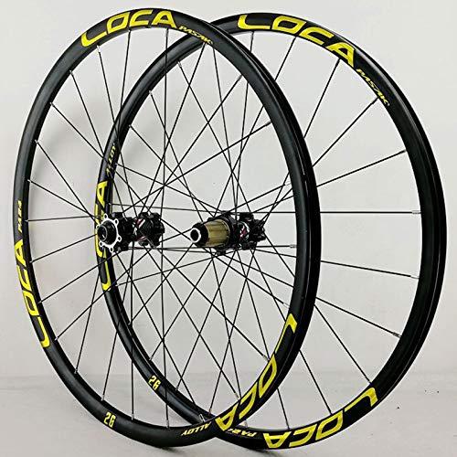 NS Ruedas Bicicleta 26 27.5 29 Pulgadas 700C Juego Ruedas Bici Eje Pasante Freno De Disco 24 Hoyos Llantas Trasero Delantero 8-12 Velocidades Ciclismo MTB (Size : 29Inch)