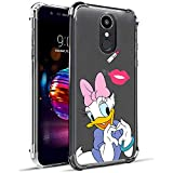 Nico Funda LG K8 2018/LG Aristo 2 Plus/LG Phoenix 4/LG Aristo 2, Lindo Gracioso Dibujos Animados Cáscara Moda, TPU Ultra-Delgado Anti-Choque Bumper Case Caso para TeléfonoLG K8 2018 (Heart Duck)