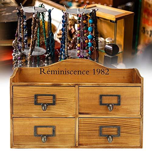 Vintage Box, dekorative Holz Aufbewahrungskoffer, Vintage Schublade Mehrschichtige Holz Desktop Aufbewahrungsbox Antike Schmuckschatulle Geburtstagsgeschenk Winzige Schmuckschatulle(#3)