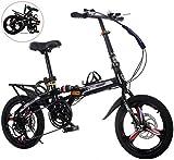 Bicicleta plegable ligera con marco alto de acero al carbono, 7 velocidades, 20 pulgadas, bicicleta plegable para adultos City Mini Compact Bike Ciudad