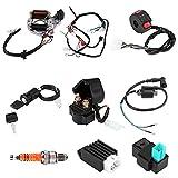Bobine d'allumage, 50 70 90 110CC Kit de câblage de l'ensemble de harnais CDI ATV Démarrage électrique QUAD Allumage CDI Convient pour pour 50cc 70cc 90cc 110cc 125cc 125cc Démarrage électrique Quad
