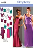 Simplicity Sewing Pattern 4401 Miss/Plus Size Special Occasion Dresses, AA (10-12-14-16-18)