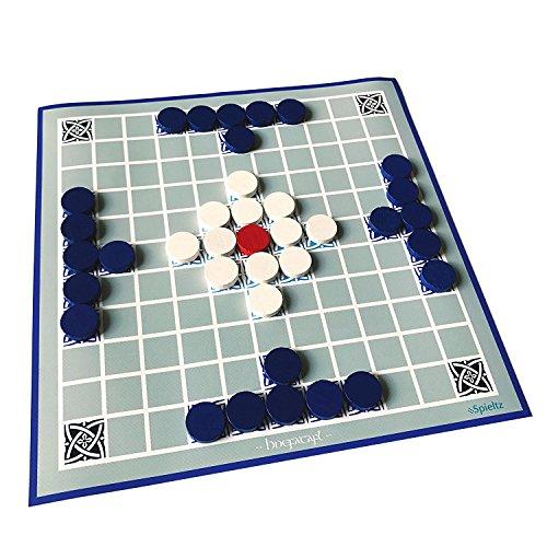 Spieltz 52108: Hnefatafl Reisespiel. Ideales Brettspiel für Strand und Garten: Spielplan auf LKW Plane, abwaschbar + rollbar. Für 2 Spieler.