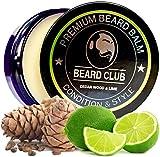 Bálsamo Barba Premium | Cedro y limón | Beard Club | Los Mejores Barba de Loción Suavizante| 100% Naturales y Orgánicos | Excelente Para el Cuidado del Cabello y el Crecimiento