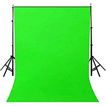 Priyam® 8 x12 FT chromakey Muslin LEKERA Backdrop Photo Light Studio Photography Background with Carry Bag - Green