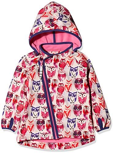Racoon Baby-Mädchen Majse Softshelljacke (Wassersäulen 5.000) Jacke, Mehrfarbig (Ibis Rose IBO), 80