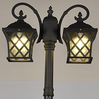 Crayom Lampadaire extérieur, combinaison de poteaux à 2 têtes, réverbère extérieur pour emplacement humide, lampadaire de ...