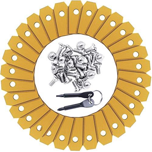 NOUVCOO - Cuchillas de Repuesto para Husqvarna Mäher, 30 Cuchillas de Repuesto para cortacésped Gardena con Tornillos, Apto para 105, 310, 315, 320, 420, 430x, r40i y NC17