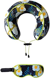 YUTRD Travel Pillow Pure Memory Foam Neck Pillow, Comfortable Breathable Cover, Machine Washable, Airplane Travel Kit with (Color : A)