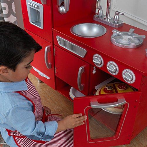 KidKraft 53173 Vintage-Spielküche aus Holz, Rot - 10