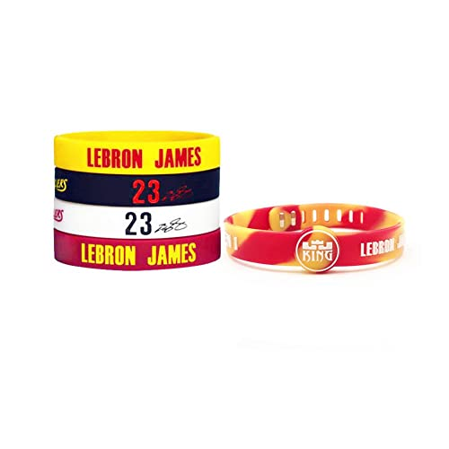 new style 4ea70 e5a5e Basketball Silicone Wristband Bracelet -4 or 5PCS Assorted Color - One of  The Five is