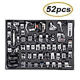 TopDirect 52pcs Machine à coudre kit Pieds-de-biche multifonctionnel pour Machine à coudre domistique Ourlet Pied de pièces...