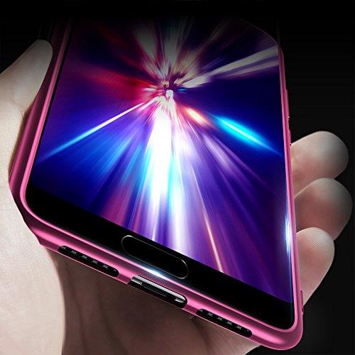X-level Huawei P20 Hülle, [Guadian Serie] Soft Flex Silikon Premium TPU Echtes Telefongefühl Handyhülle Schutzhülle für Huawei P20 Case Cover [Weinrot] - 5