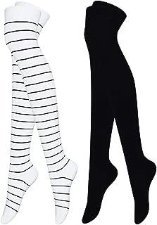 Cotton Thigh High Socks for Women Ultra Long Over the Knee High Boot Socks Winter Thick Leg Warmer Socks Thigh High Stockings