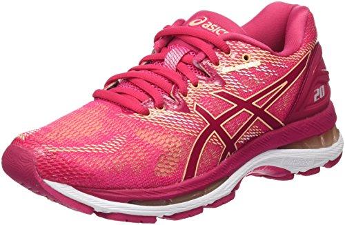Asics Gel-Nimbus 20, Zapatillas de Running para Mujer, Rosa (Bright Rose/Bright Rose/Apricot Ice 2121), 39.5 EU