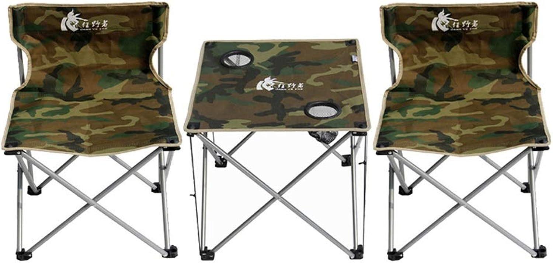 36b48e91fa96 Modern Camouflage Portable Foldable Stool Table Combination Set ...