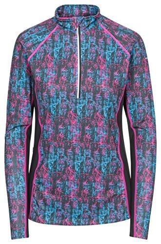 Trespass Essie Haut Thermique Femme, Imprimé Rose Brillant, FR : 2XL (Taille Fabricant : XXL)