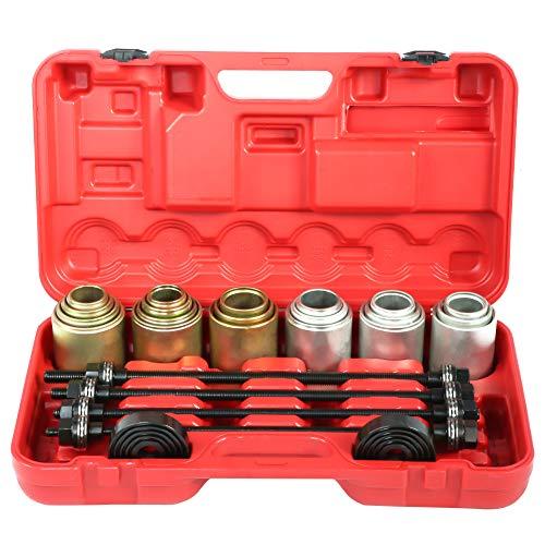 Cocoarm 26-teiliges Abzieher Satz Ausdrücker Achslager Werkzeug Auto-Universalbuchsenlager zum Entfernen von Einsteckwerkzeugen Set Press Pull Sleeve Kit