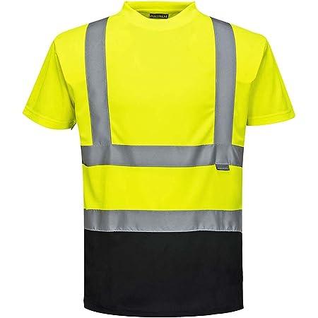 Portwest S378YBRS Hi-Vis - Camiseta de 2 tonos, pequeña, color amarillo/negro