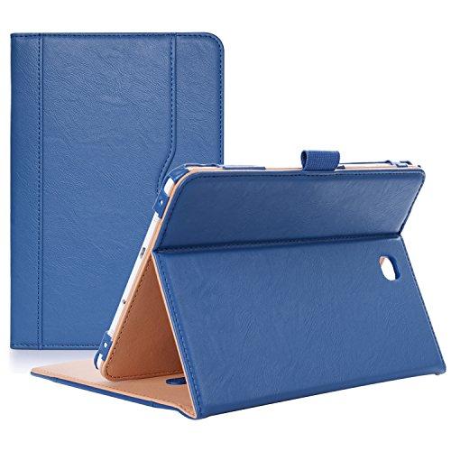 ProCase Funda Samsung Galaxy Tab S2 8.0 - Clásico Folio de Soporte Cubierta Inteligente Plegable para 2015 Galaxy Tab S2 Tablet (8.0 Pulgada, SM-T710 T715 T713) -Azul Oscuro