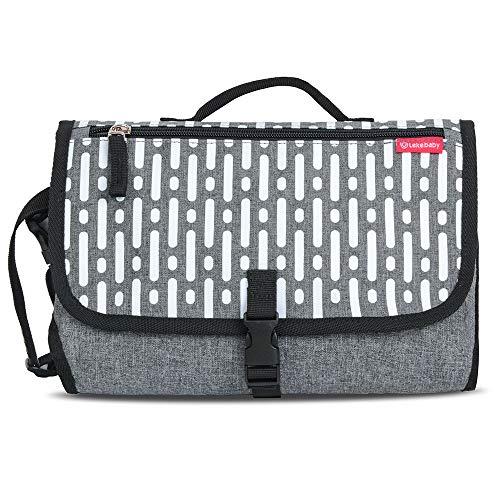 Lekebebay Portable Changing Mat Built-in Head Cushion - Waterproof...
