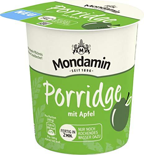 Mondamin Snack Becher Porridge Apfel, 8er Pack (8 x 70 g)
