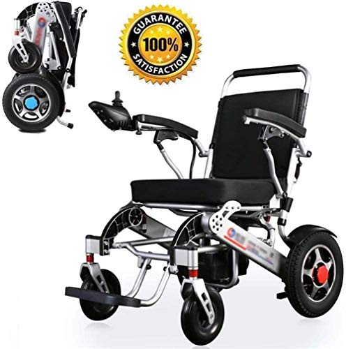 Power Wheelchair/ Lightweight Wheelchair,electric Wheelchair Open Quick Folding,electric Power Wheelchairs Durable,safe and Easy to Drive Wheelchairs, Aviation Travel Safe 250w*2double Motor for Disab