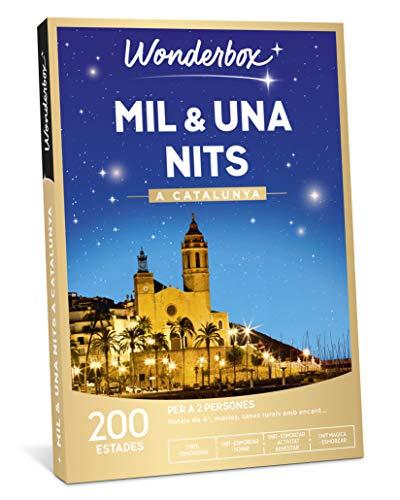 WONDERBOX Caja Regalo - MIL & UNA NITS A Catalunya - una Estancia con Diferentes Opciones a Elegir Entre 200 estancias mágicas para Dos Personas.