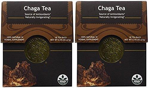 Chaga Tea - Organic Herbs - 18 Bleach Free Tea Bags (2 Packages)