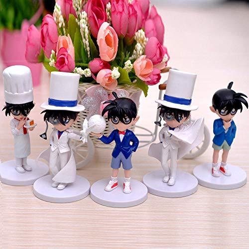 RGERG Figuras Acción Estatuas Anime Detective Conan Modelo de Juguete Hecho a Mano Monster Pirate Kid Decoración Regalo de cumpleaños 5Pcs, 11.6-13.6Cm High