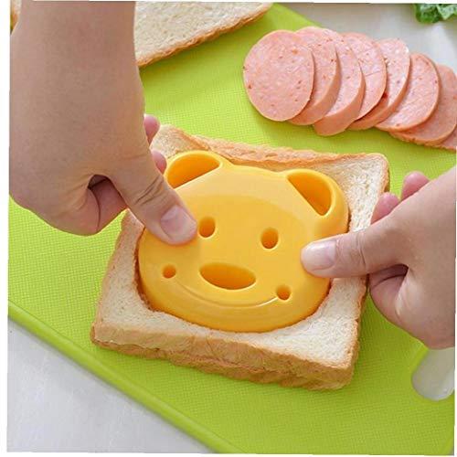 Lankater Kinder Bär Sandwich Und Brot Press Cutter-Hersteller-Form Kleine Gelbe Bären-Form-Kuchen-Form