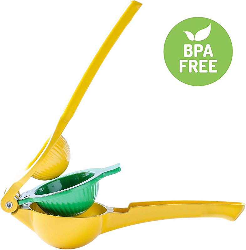Lemon Squeezer Lime Manual Citrus Press Juicer Sturdy And Durable Premium Quality Metal With Long Handle Spoon