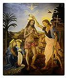 Puzzle De Madera Adulto 500 Piezas Pintura Al Óleo, Jesús ES Bautizado Pintura Del Hogar Del Arte