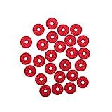 Healifty 90 piezas del teclado del piano de fieltro riel delantero que regula las perforaciones piezas de reparación (rojo)