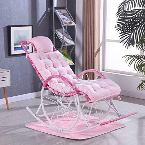 HGDD Kissenbezüge Verdicken Freizeit Stuhlkissen Warm Garten Terrasse Stuhl Liegebank Kissen zu halten (Color : Pink)
