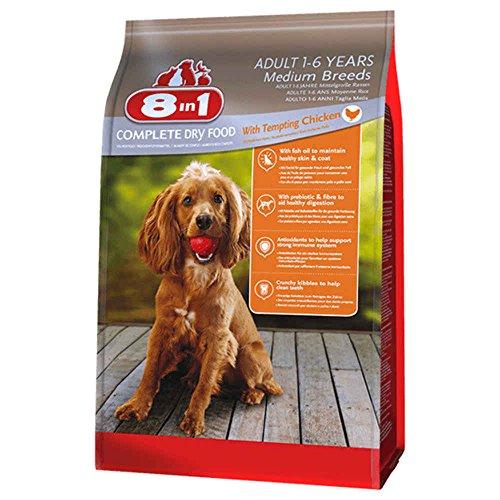8in1 Trockenfutter Hund Erwachsen, Mittel, Huhn Größe 1kg