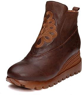 Ansenesna Bottines Chaussure Bottes Bottes /à Talons Carr/éS D/éContract/éS Vintage de Couleur Unie Pointu avec Fermeture /à Glissi/èRe en Strass
