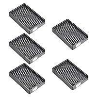 uxcell ESD帯電防止ネジプレート スクリュートレイ ネジ収納トレイホルダー 2.5-3mm直径ねじに適用 273穴 5個入り