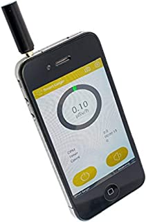 Enshey Smart Geiger Counter Nuclear Radiation Dosimeter Gamma X-ray Personal Detector Counter Tester Sensor for Smartphone Apple iPhone 4S and Above/Android 4.2 and Above iOS with App